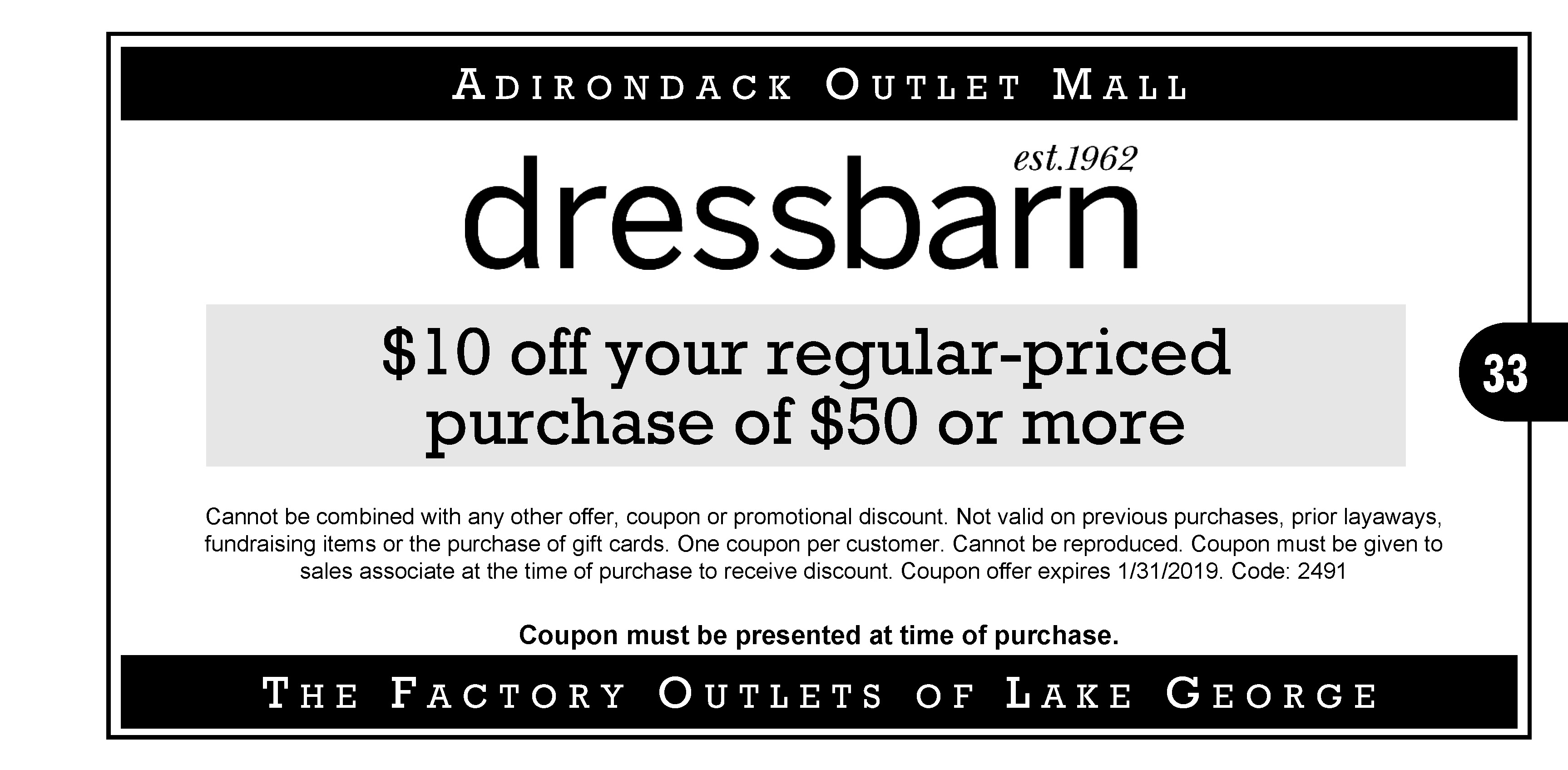 2018 Factory Outlets Of Lake George Coupons Factory Outlets Of
